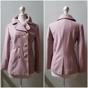GAP Small Blush Wool Peacoat